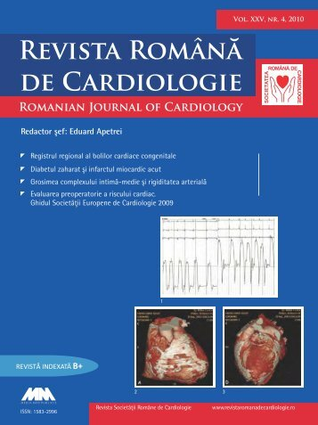 Nr. 4, 2010 - Romanian Journal of Cardiology