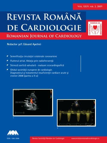 Nr. 2, 2009 - Romanian Journal of Cardiology