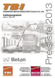 Lieferprogramm - TBI Transportbeton Ingolstadt