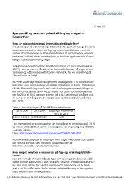 Spørgsmål og svar om prisudvikling og brug af e- tidsskrifter - DEFF