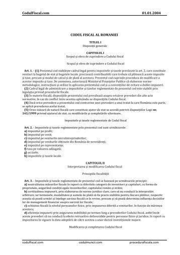 Codul Fiscal al Roma.. - ALB