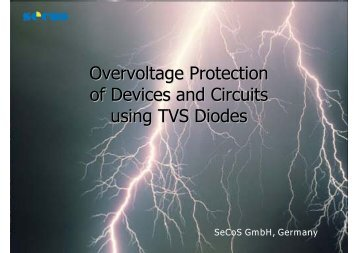 Overvoltage Protection of Devices and Circuits using TVS ... - SeCoS