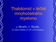 Thalidomid v léčbě mnohočetného myelomu