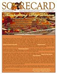 Newsletter/Calendar Hunters Ridge Golf and Country Club ...