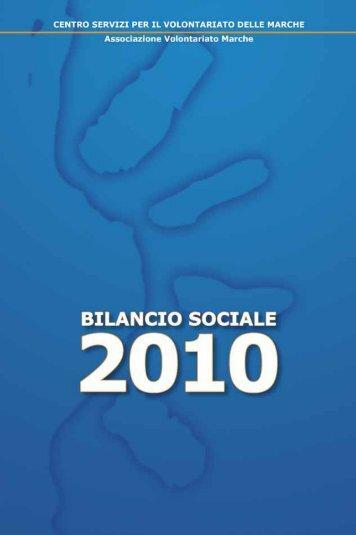 Bilancio Sociale 2010 - CSV Marche