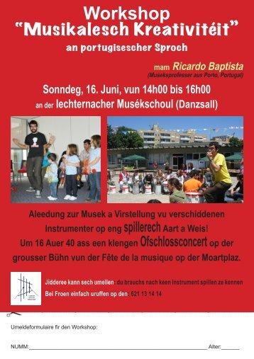 Workshop - Echternach
