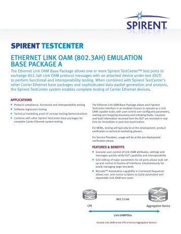 Spirent testcenter data edge.