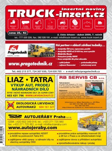 Info na tel.: 602 719 265 - TRUCK-inzert.cz