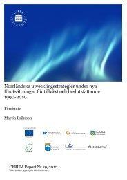 Norrländska utvecklingsstrategier under nya förutsättningar för ...