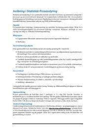 Innføring i Statistisk Prosesstyring - Industriskolen