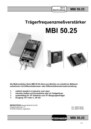 MBI 50.25 - MESSOTRON Hennig GmbH & Co KG