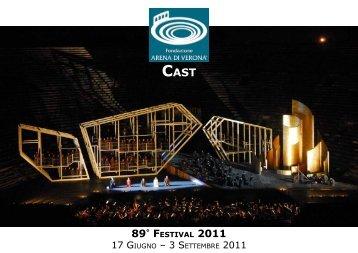 cast 89° festival 2011 - Evento Italiano
