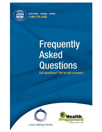 Frequently Asked Questions - Lotsa Helping Hands