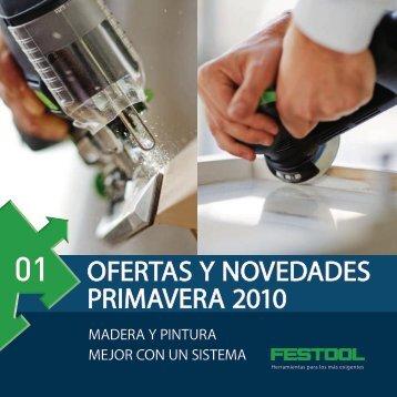 """Descárguese el folleto """"Ofertas y Novedades Primavera 2010"""