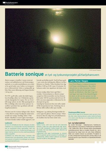 Lærerveiledning Batterie sonique - Forsvarsbygg