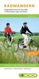 Radwandern – Ausgewählte Touren für das E-Bike in