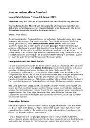Schlieren Sony LiZ - Colliers International Zurich