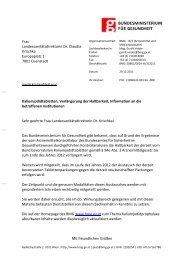 Frau Landessanitätsdirektorin Dr. Claudia Krischka Europaplatz 1 ...