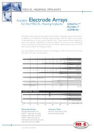 Available Electrode Arrays - Med-El