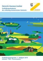 1. Halbjahr 2014 - Zahnärztekammer Schleswig-Holstein