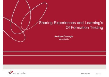 Sharing Experiences and Learning's Of Formation Testing - FESAus