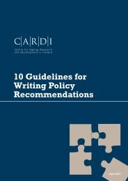 10 Guidelines for Writing Policy Recommendations - CARDI