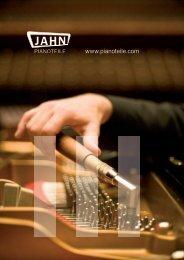 Hauptkatalog Nr. 11 - 2. Auflage Main Catalogue ... - Jahn Pianoteile