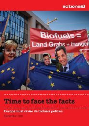 Time to face the facts Europe must revise its biofuels ... - ActionAid