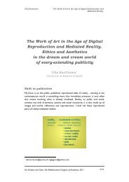 The Work of Art in the Age of Digital Reproduction and Mediated ...
