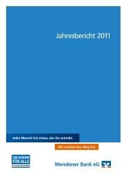 Bericht des Vorstandes - Mendener Bank eG