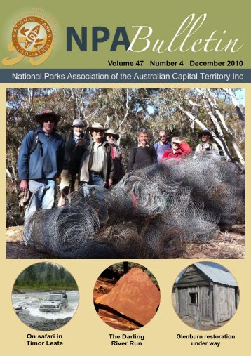 Vol 47 No 4 Dec 2010 - National Parks Association of the ACT