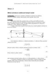 Měření ohniskové vzdálenosti tenkých čoček - Lide na UHK
