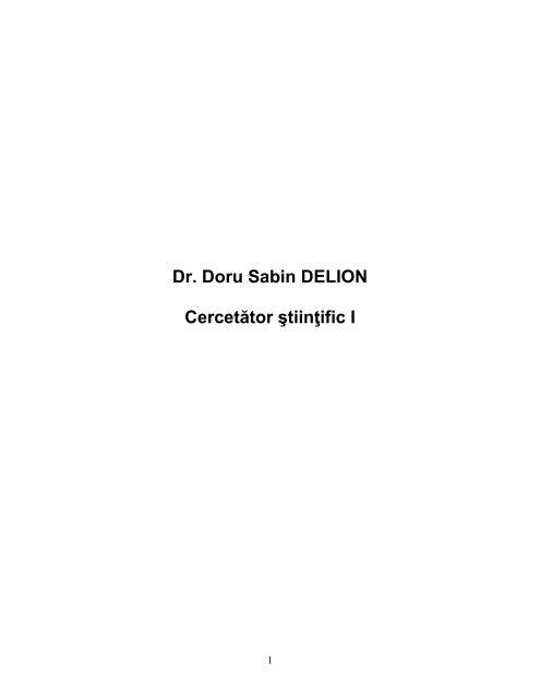 dl Delion-Doru Sabin - Academia Oamenilor de Stiinta din Romania