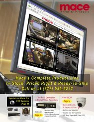mace pro dvr systems - CWS Home Security