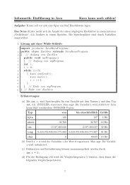 Informatik: Einführung in Java Kara kann auch zählen!