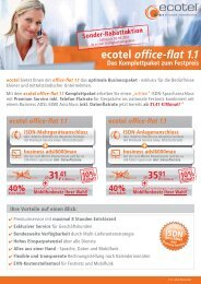 ecotel office-flat 1.1 ISDN-Anlagenanschluss - Unified Solution GmbH