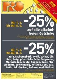 auf alle alkohol- freien Getränke - Pro Kaufland