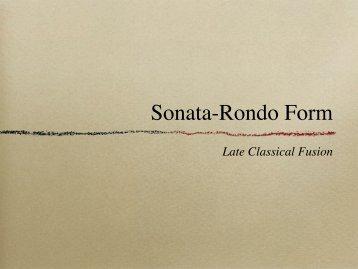 Sonata-Rondo Form - SFCM Theory