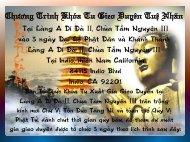 Chương Trình Khóa Xuất Gia Gieo Duyên kỳ 2 - chùa TẦM NGUYÊN
