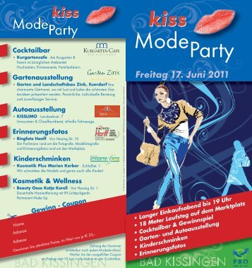 Mode Party - PRO BAD KISSINGEN