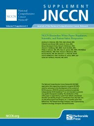 Volume 9 Supplement 4 Journal of the National Comprehensive