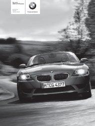 Freude am Fahren Der neue BMW Z4 M Roadster Preisliste Stand ...