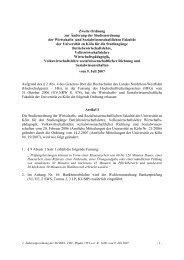 Zweite Änderungsordnung BWL, VWL - Universität zu Köln