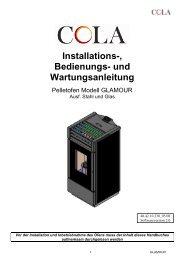 Installations-, Bedienungs- und Wartungsanleitung