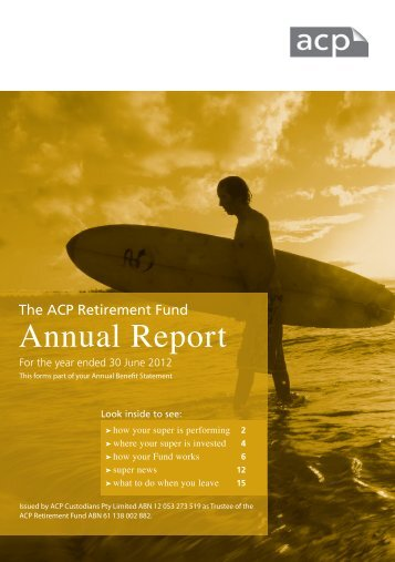 Annual report 2012 - SuperFacts.com