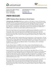 press release - Abu Dhabi Women's College - Higher Colleges of ...