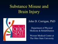 Substance Misuse and Brain Injury - National Association of States ...