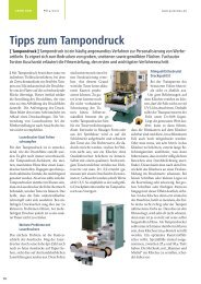 Tipps zum Tampondruck - Lang & Schmidt OHG
