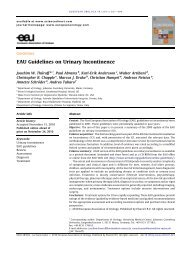 EAU Guidelines on Urinary Incontinence - European Association of ...
