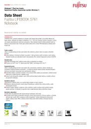 Data Sheet Fujitsu LIFEBOOK S761 Notebook - eD' system Czech, as